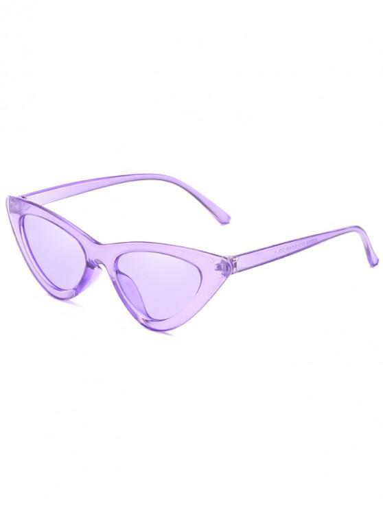 women Anti Fatigue Flat Lens Catty Sunglasses - MAUVE