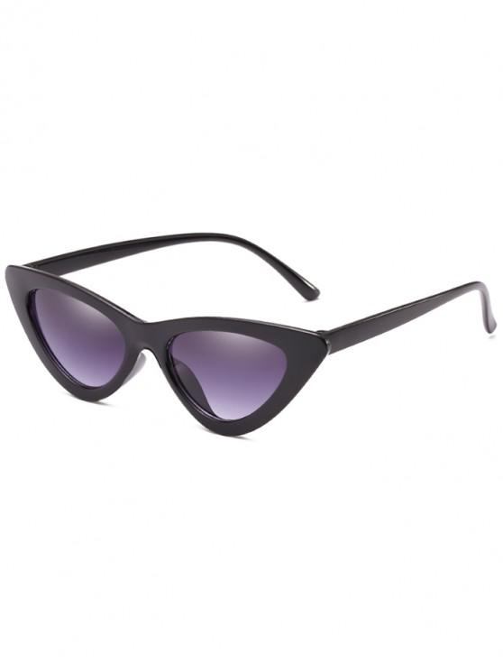 trendy Anti Fatigue Flat Lens Catty Sunglasses - GRAY DOLPHIN