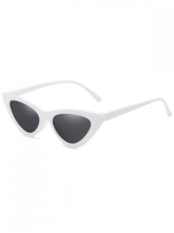 unique Anti Fatigue Flat Lens Catty Sunglasses - WHITE