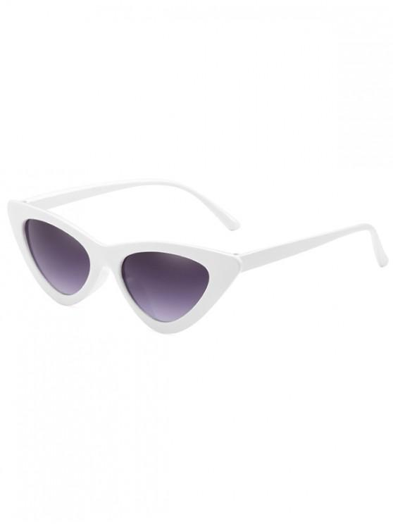 latest Anti Fatigue Flat Lens Catty Sunglasses - MILK WHITE