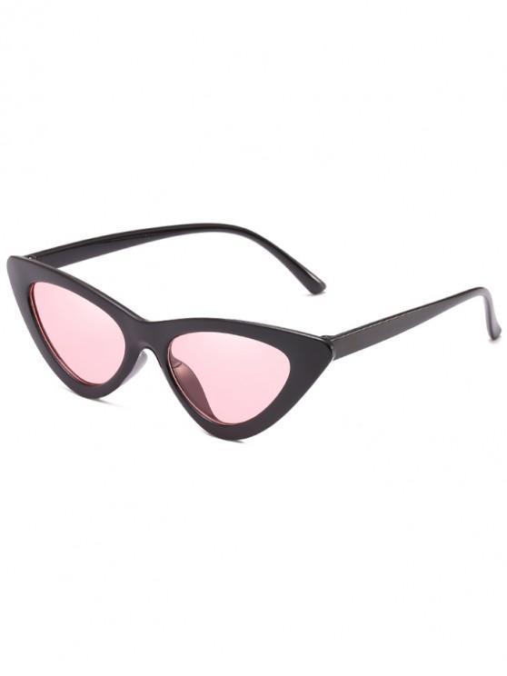 unique Anti Fatigue Flat Lens Catty Sunglasses - PIG PINK