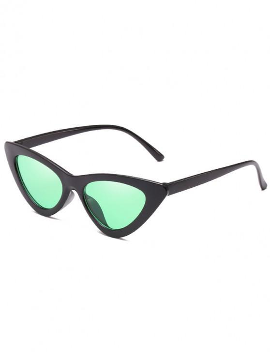 affordable Anti Fatigue Flat Lens Catty Sunglasses - BLUE GREEN