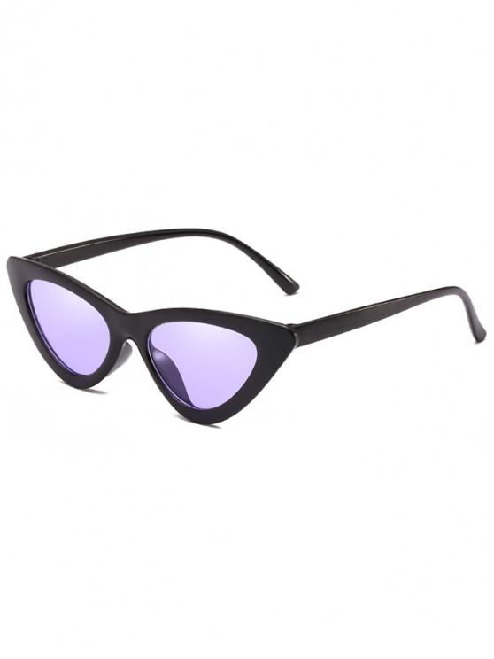 chic Anti Fatigue Flat Lens Catty Sunglasses - HELIOTROPE PURPLE