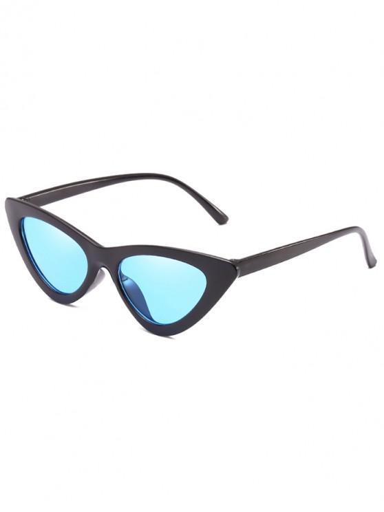 buy Anti Fatigue Flat Lens Catty Sunglasses - DEEP SKY BLUE