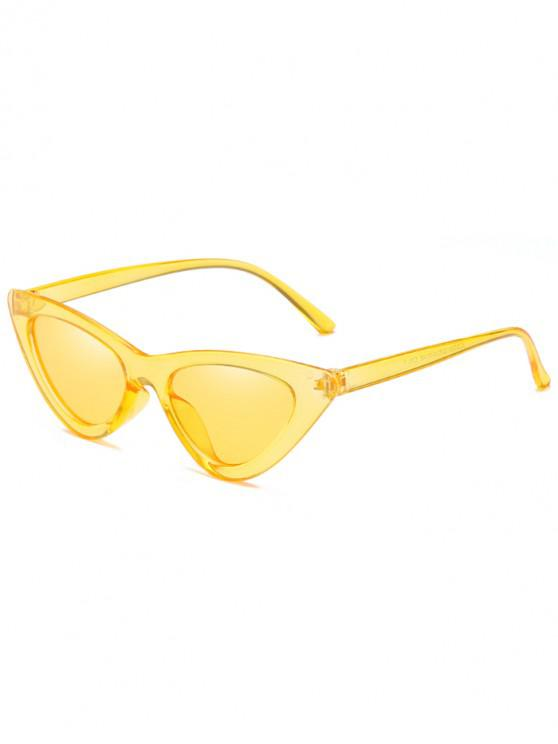 sale Anti Fatigue Flat Lens Catty Sunglasses - GOLDENROD