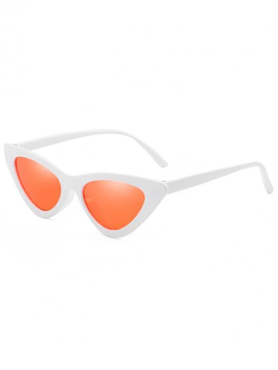 womens Anti Fatigue Flat Lens Catty Sunglasses - VALENTINE RED