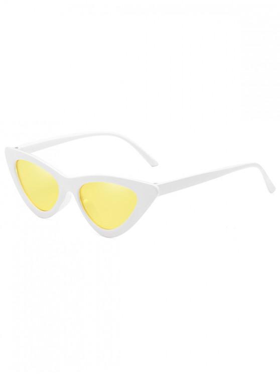 ladies Anti Fatigue Flat Lens Catty Sunglasses - SUN YELLOW