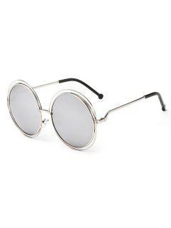 Gafas De Sol Redondas Con Marco Anti-fatiga - Plata
