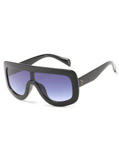 Anti Fatigue Oversized Shield Sunglasses - Black