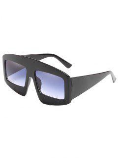 Stylish Wide Frame Flat Lens Sunglasses - Battleship Gray