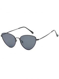 Anti Fatigue Metal Full Frame Catty Sunglasses - Black