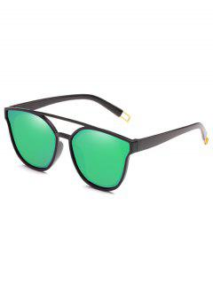 Anti Fatigue Crossbar Decorative Sunglasses - Yellow Green