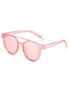 Anti Fatigue Crossbar Decorative Sunglasses - Pig Pink