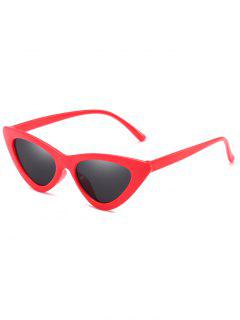 Anti Fatigue Flat Lens Catty Sunglasses - Red