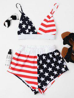 Pantalones Cortos De Cami De La Bandera Americana - Negro Xl