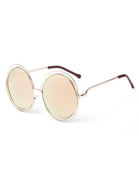 Anti Müdigkeit Aushöhlen Frame Runde Sonnenbrille - Safran  Mobile