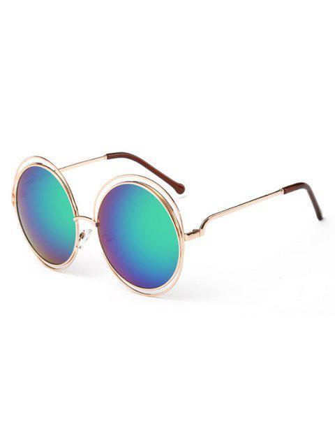 Anti Fatigue évider Frame lunettes de soleil rondes - Bleu Vert  Mobile