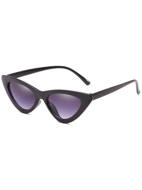 trendy Anti Fatigue Flat Lens Catty Sunglasses - GRAY DOLPHIN  Mobile