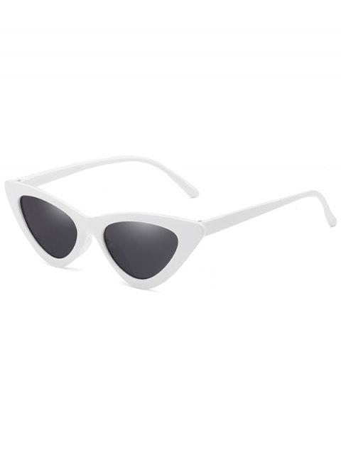 unique Anti Fatigue Flat Lens Catty Sunglasses - WHITE  Mobile