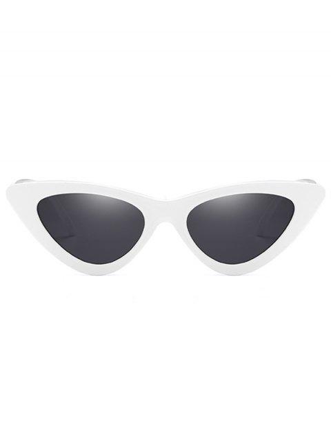 unique Anti Fatigue Flat Lens Catty Sunglasses - WHITE  Mobile