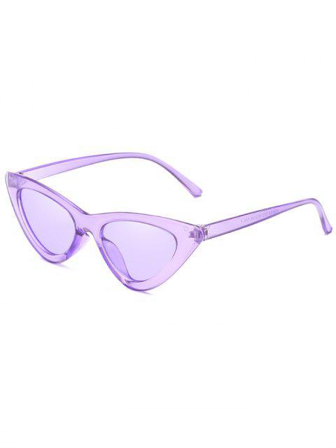 women Anti Fatigue Flat Lens Catty Sunglasses - MAUVE  Mobile