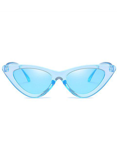 lady Anti Fatigue Flat Lens Catty Sunglasses - DAY SKY BLUE  Mobile
