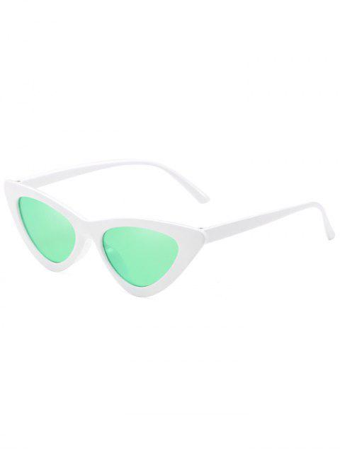 best Anti Fatigue Flat Lens Catty Sunglasses - DRAGON GREEN  Mobile