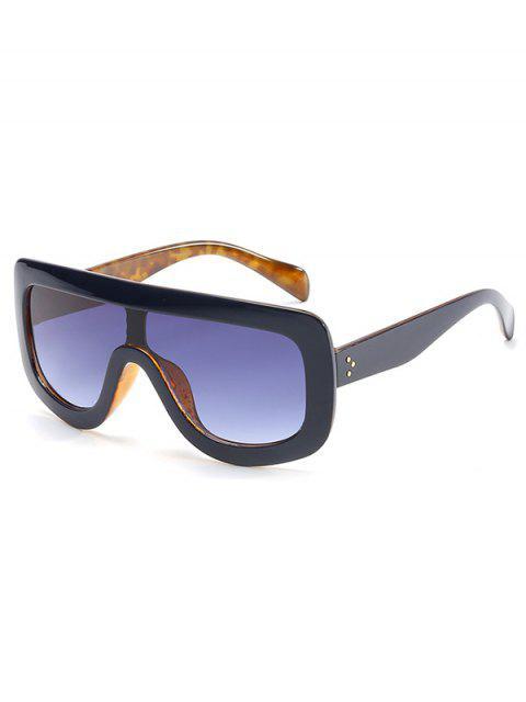 shops Anti Fatigue Oversized Shield Sunglasses - STEEL BLUE  Mobile