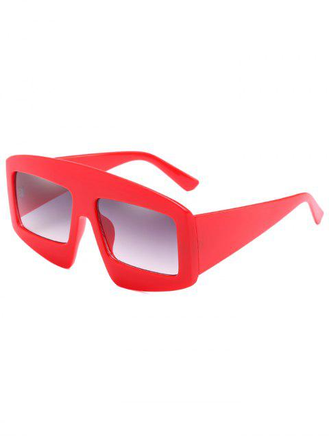 outfit Stylish Wide Frame Flat Lens Sunglasses - RED  Mobile