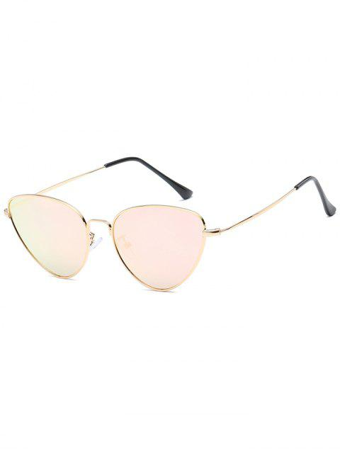 latest Anti Fatigue Metal Full Frame Catty Sunglasses - PIG PINK  Mobile