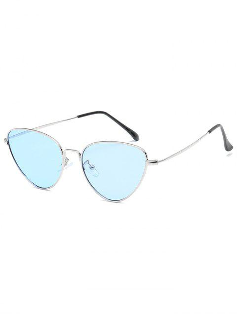 fashion Anti Fatigue Metal Full Frame Catty Sunglasses - DEEP SKY BLUE  Mobile