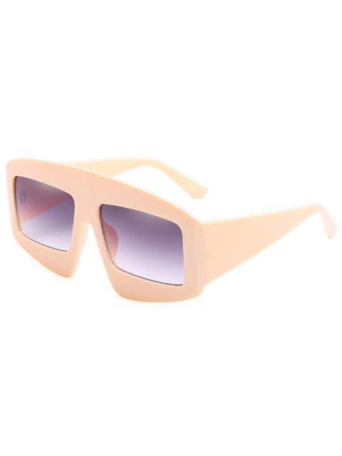 chic Stylish Wide Frame Flat Lens Sunglasses - GOLDENROD  Mobile