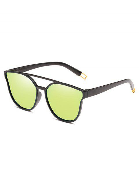 unique Anti Fatigue Crossbar Decorative Sunglasses - HARVEST YELLOW  Mobile
