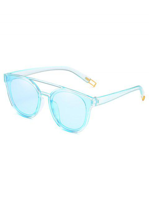 affordable Anti Fatigue Crossbar Decorative Sunglasses - DAY SKY BLUE  Mobile