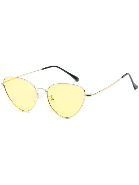 womens Anti Fatigue Metal Full Frame Catty Sunglasses - GOLDENROD  Mobile