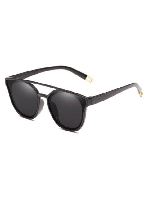 women's Anti Fatigue Crossbar Decorative Sunglasses - BLACK  Mobile