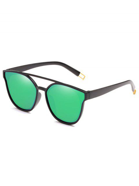 ladies Anti Fatigue Crossbar Decorative Sunglasses - YELLOW GREEN  Mobile