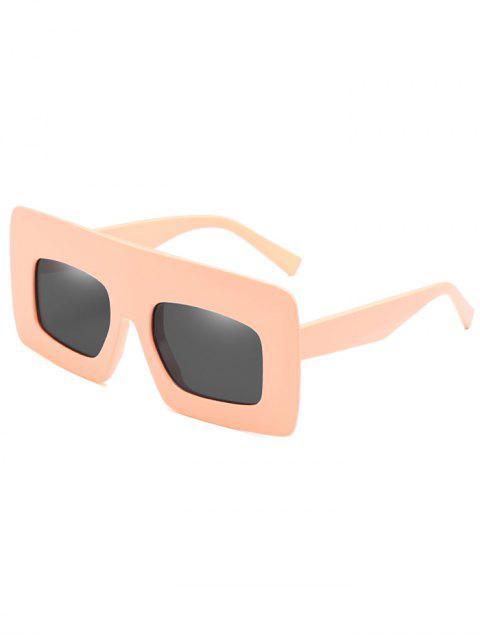 Anti-Ermüdung-breite Rahmen-Sonnenbrille-Sonnenbrille - Sonne Gelb  Mobile