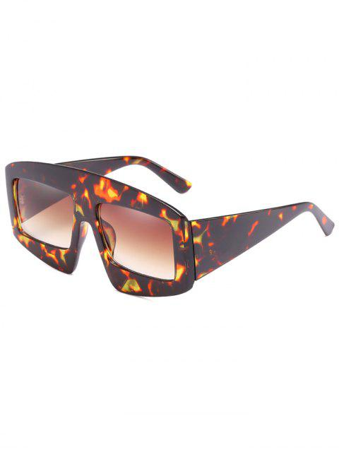 Stilvolle breite Rahmen flache Sonnenbrille - Dunkelbraun  Mobile