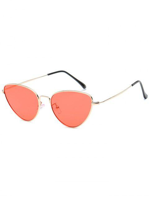 fashion Anti Fatigue Metal Full Frame Catty Sunglasses - WATERMELON PINK  Mobile