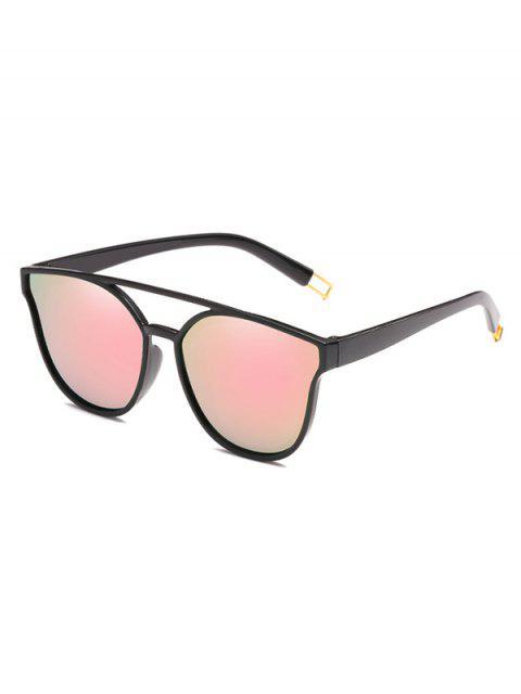 unique Anti Fatigue Crossbar Decorative Sunglasses - PINK  Mobile