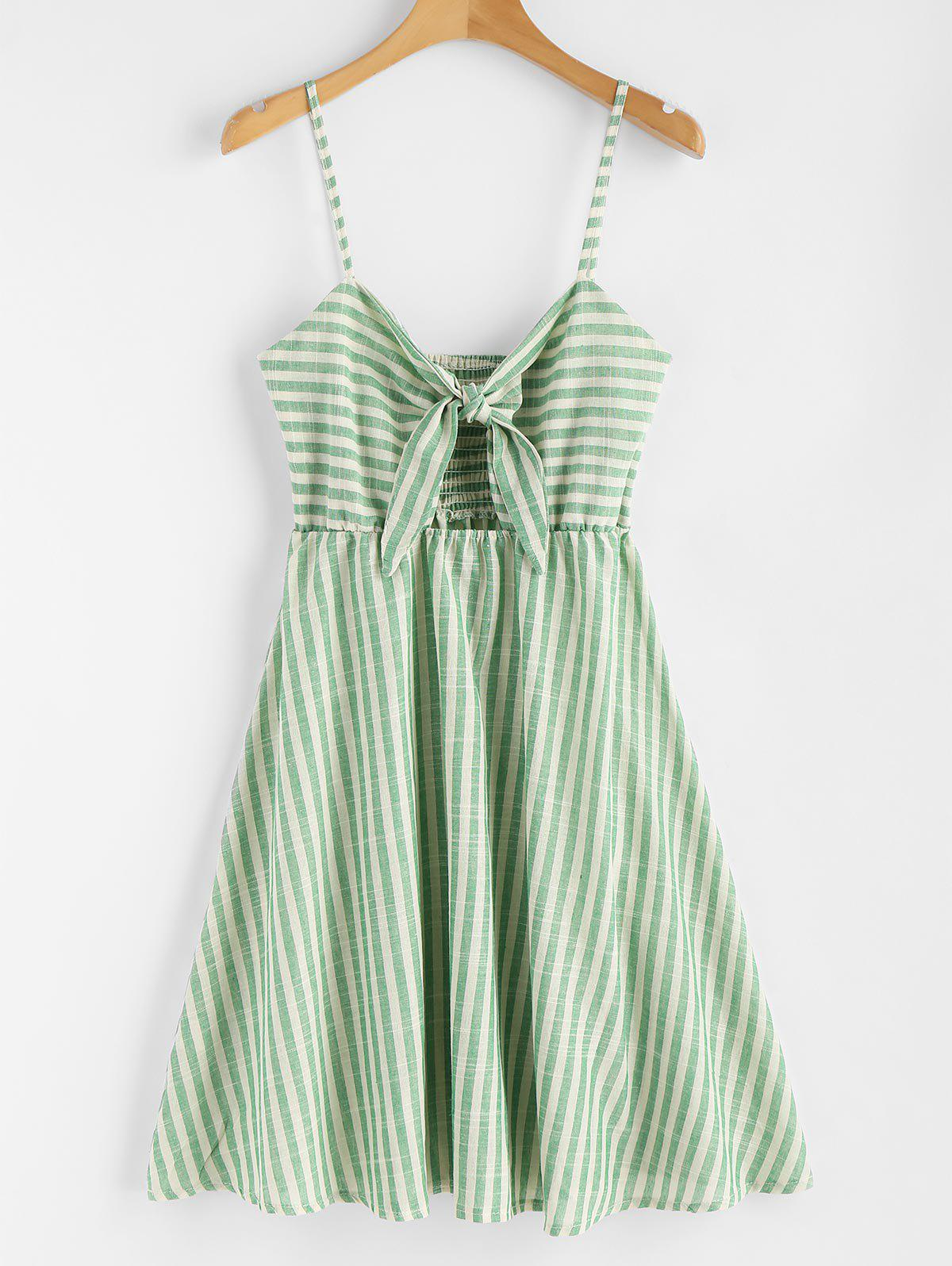 Smocked Knotted Stripe