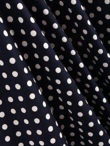 L Vestido Oscuro Cremallera Con De L Lunares Lateral Azul 237;nea De Con Pizarra PnqSrwP7