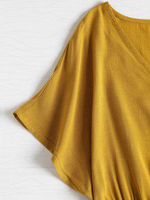 De Dolman Abotonada Amarillo Abotone M Superior Cintura La Parte De La BqnIZpwt