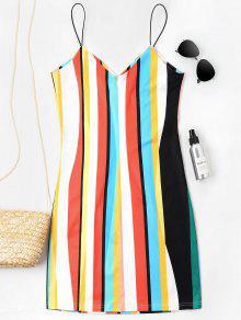 M Camisola Multicolor Rayas Vestido Mini A 4Z7Swq