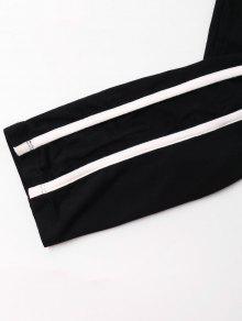 De Dobles S Pantal Rayas De Camisola Y Negro 243;n Conjunto qpXfwf