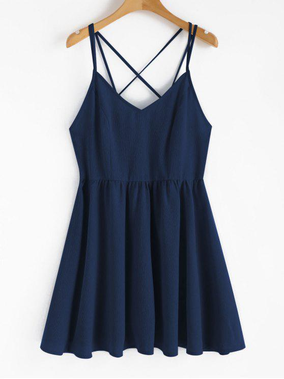 lady Backless Cami Sundress - DEEP BLUE L