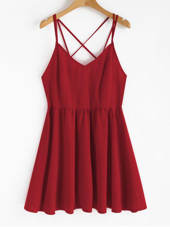 new Backless Cami Sundress - LOVE RED L