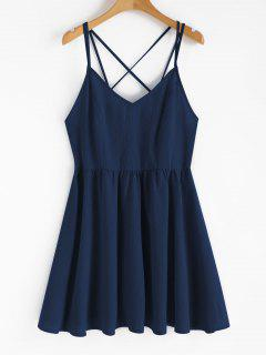 Backless Cami Sundress - Deep Blue L