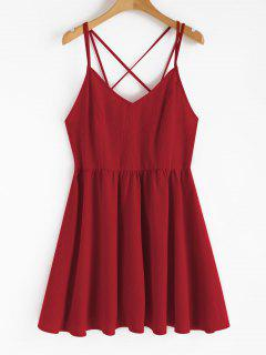 Backless Cami Sundress - Love Red M